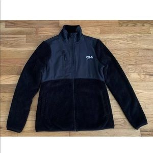 Fila Sport Black Fleece Full Zip Light Jacket XS